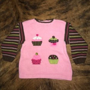 Other - Girls Cupcake Sweater Size 3T